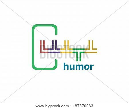 Text Humor. Holiday Concept. Abstract Emblem, Design Concept, Element For Template.