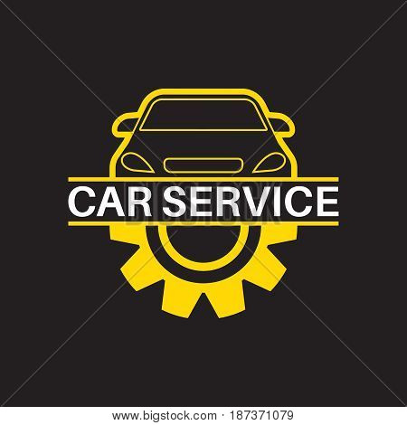 Car repair badges. Technical service. Logotype .Vector illustration for stickers emblems locations of repair points.Flat design.