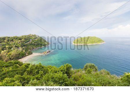 Beautiful views point scenery andaman sea in phuket island Thailand