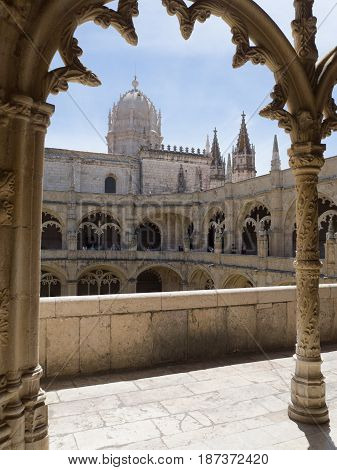The Jeronimos Monastery - Lisbon Portugal - Architecture Backgro