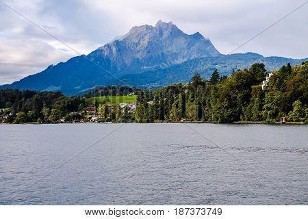 View Of Mount Pilatus In Lucerne, Switzerland.