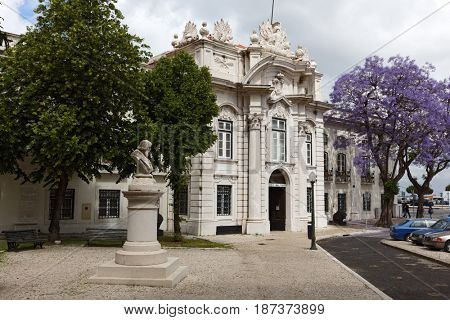 LISBON, PORTUGAL - MAY 9, 2017: Building of Military museum of Portugal in a springtime day. Museum was inaugurated in 1926