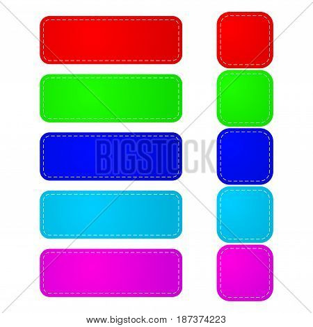 Stickers. Colorful set. Vector illustration isolated on white background.