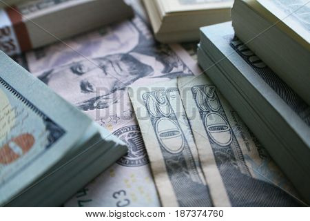 Cash Close Up High Quality Stock Photo