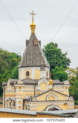 Kiev Ukraine. Kiev-Pechersk Lavra the Golden domes.