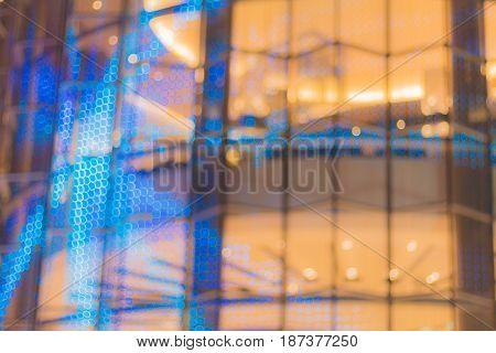 Abstract image of bokeh lights in the bangkok city.