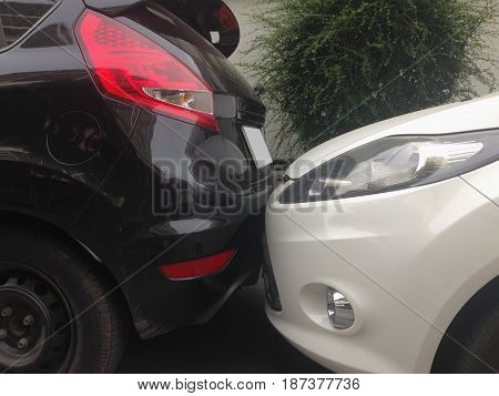 The scene of a car crash car accident