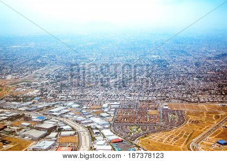 Airplane View Of Santiago, Chile