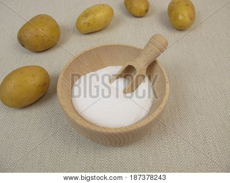 Dextrose from potato starch and fresh potatoes poster