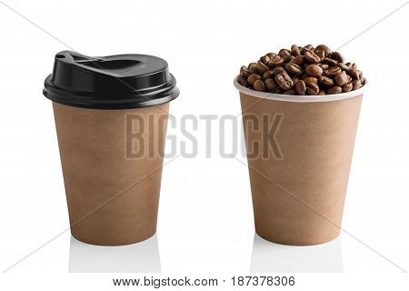 Paper Coffee Cup Isolated On White