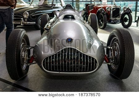 STUTTGART GERMANY - MARCH 04 2017: Sports car Veritas Meteor 1950. Europe's greatest classic car exhibition