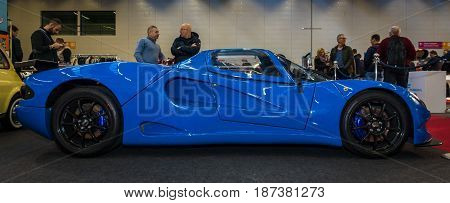 STUTTGART GERMANY - MARCH 04 2017: Sports car Kaiserova C12 Spyder 1985. Europe's greatest classic car exhibition