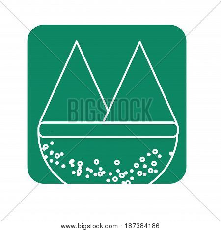 label beautyful and natural mountains ecology, vector illustration design