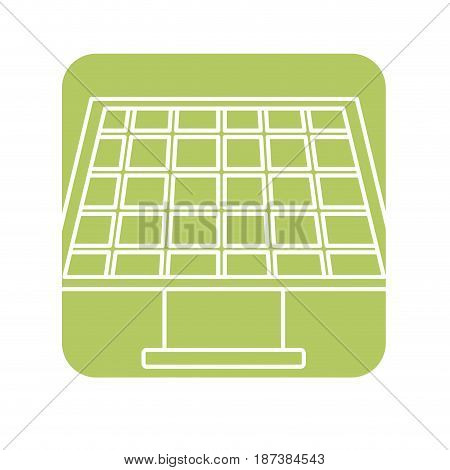 label solar energy to care ecology and planet, vector illustration