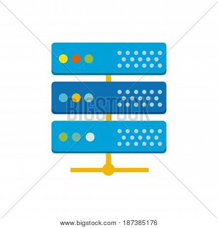digital router to connect data center, vector illustration
