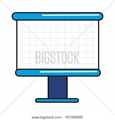 empty white marker board, vector illustration design