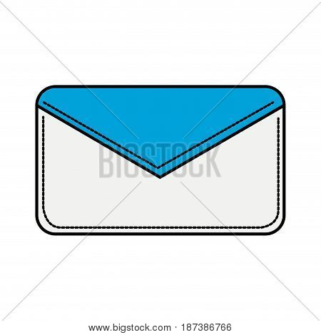 nice letter close with important message, vector illustration