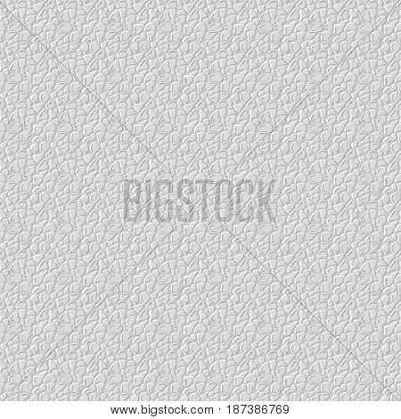 Realistic seamless leather texture. White leather background. Vector illustration