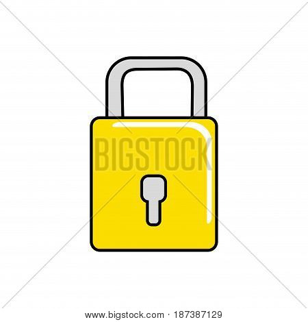 padlock to have sacurity the special thing, vector illustration