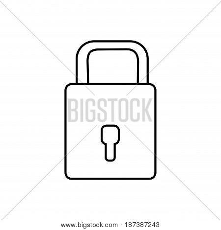 line padlock to have sacurity the special thing, vector illustration