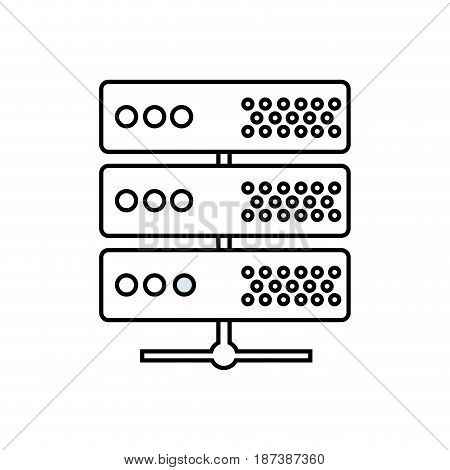 line digital router to connect data center, vector illustration