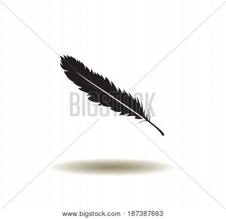 vector illustration of a feather icon isolated on white background