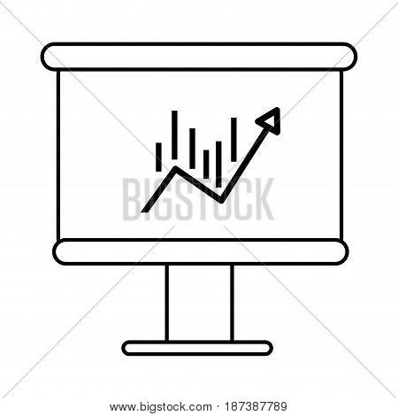 line board with statistic arrow up to financial business, vector illustration