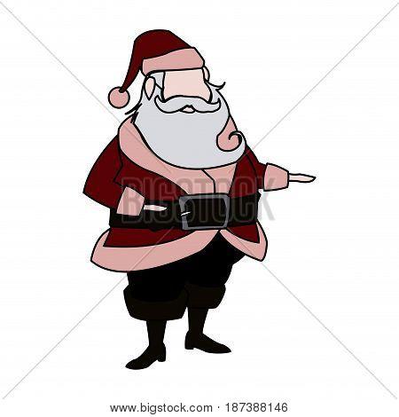 character santa claus christmas image vector illustration
