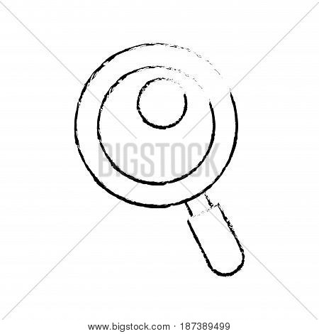 figure magnifying glass tool to search and read, vector illustration