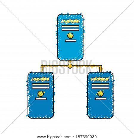 banner data center digital connection, vector illustration