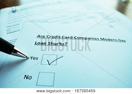 Loans Close Up High Quality Stock Photo