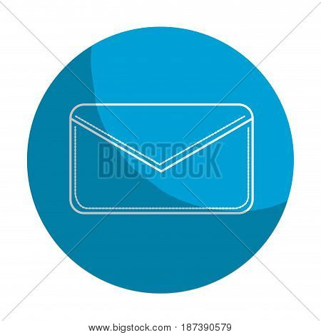 sticker nice letter close with important message, vector illustration