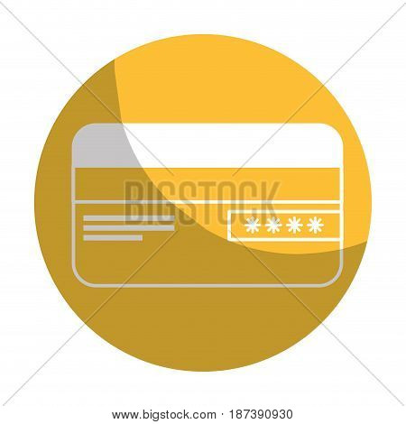 sticker credit card financial and security transaction, vector illustration
