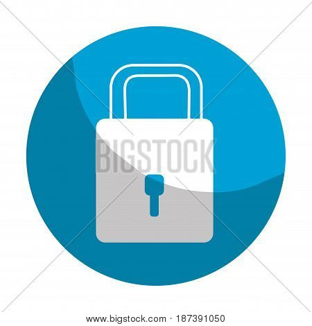sticker padlock to have sacurity the special thing, vector illustration