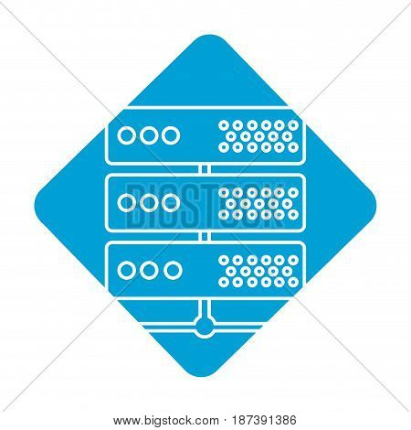label digital router to connect data center, vector illustrationdigita router to connect data center, vector illustration