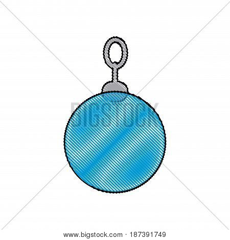 christmas ball decoration ornament image vector illustration