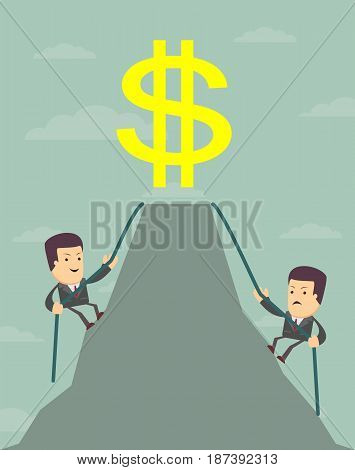 Businessman is wants to get the prize , Successful man , Business concept - vector illustration
