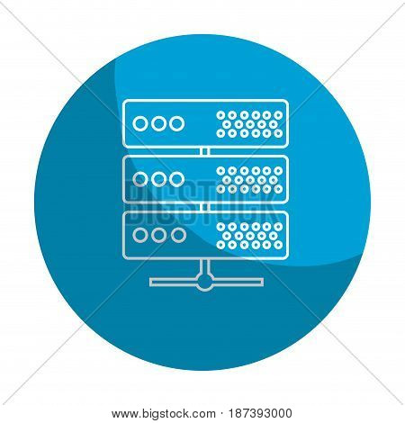 sticker digital router to connect data center, vector illustration