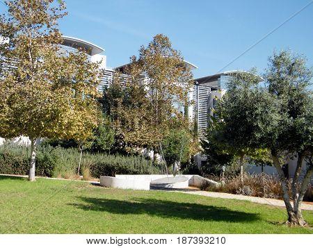 Picturesque Dahan Park in Bar-Ilan University near Ramat Gan Israel