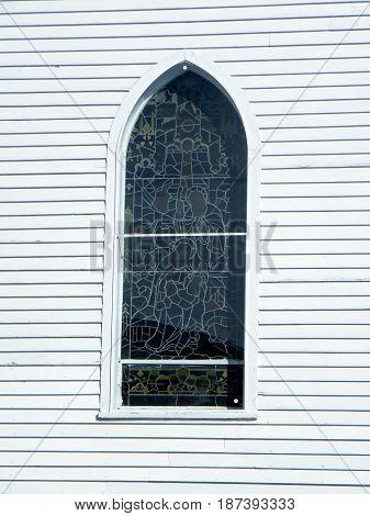 Window of Holy Trinity Church in Thornhill Canada