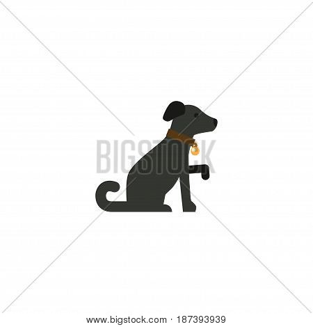 Flat Dog Element. Vector Illustration Of Flat Hound Isolated On Clean Background. Can Be Used As Hound, Dog And Pooch Symbols.