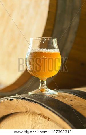 Light Beer On A Barrel