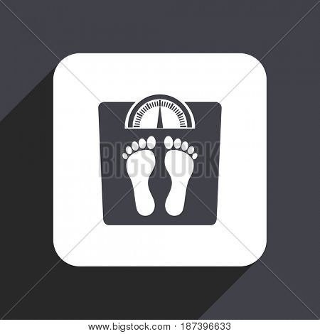 Weight flat design web icon isolated on gray background