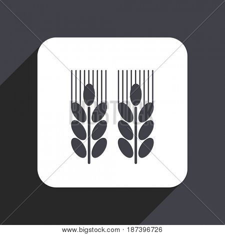 Agricultural flat design web icon isolated on gray background