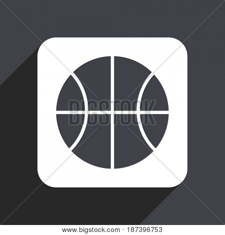 Ball flat design web icon isolated on gray background