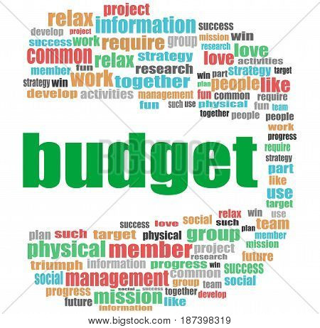 Budget Word. Business Concept . Word Cloud Collage