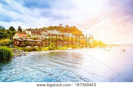 Beautiful Seaside With Houses