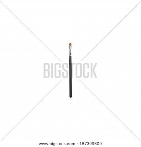 Realistic Eye Paintbrush Element. Vector Illustration Of Realistic Brow Makeup Tool Isolated On Clean Background. Can Be Used As Brush, Eye And Brow Symbols.