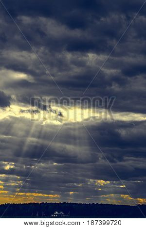 Clouds On A Stormy Sky