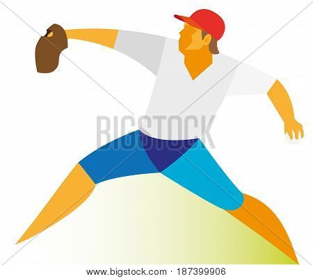 A young man is a baseball pitcher who throws the ball far